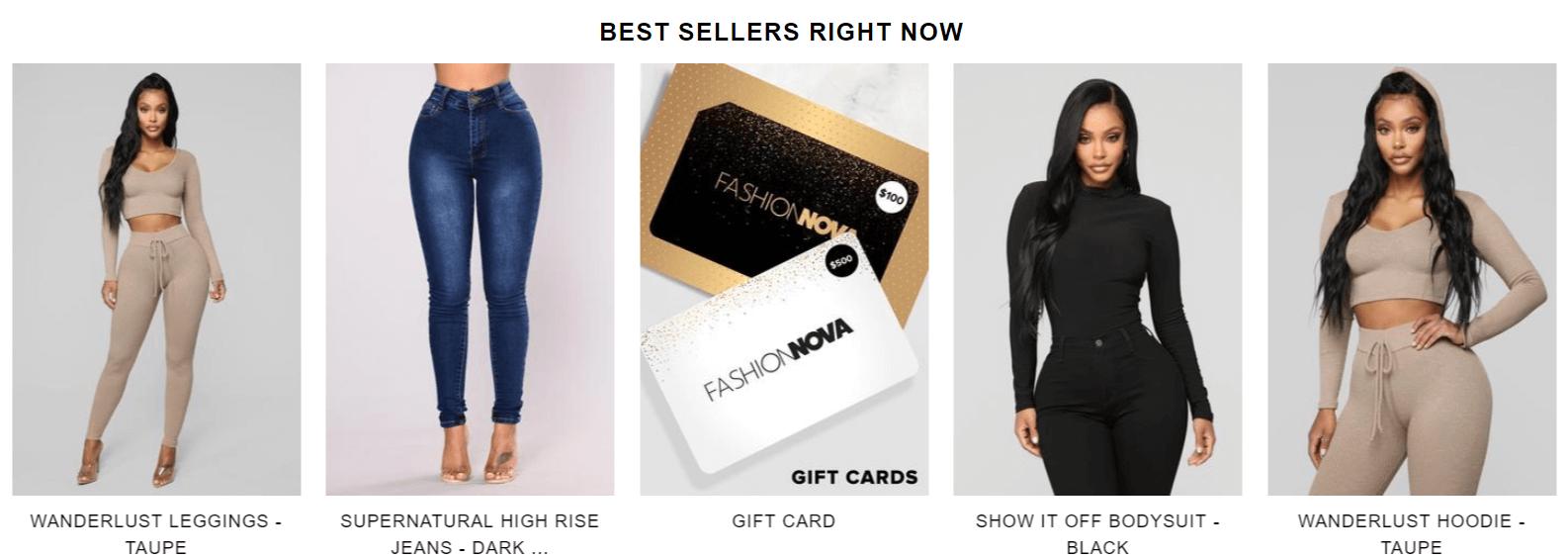 fashionnova products